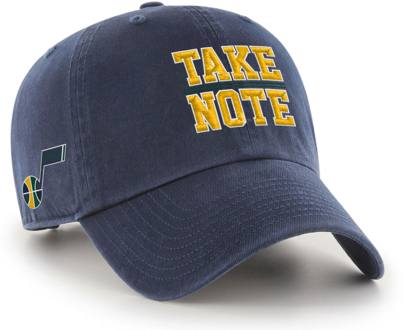 "'47 Men's Utah Jazz ""Take Note"" Clean Up Adjustable Hat"