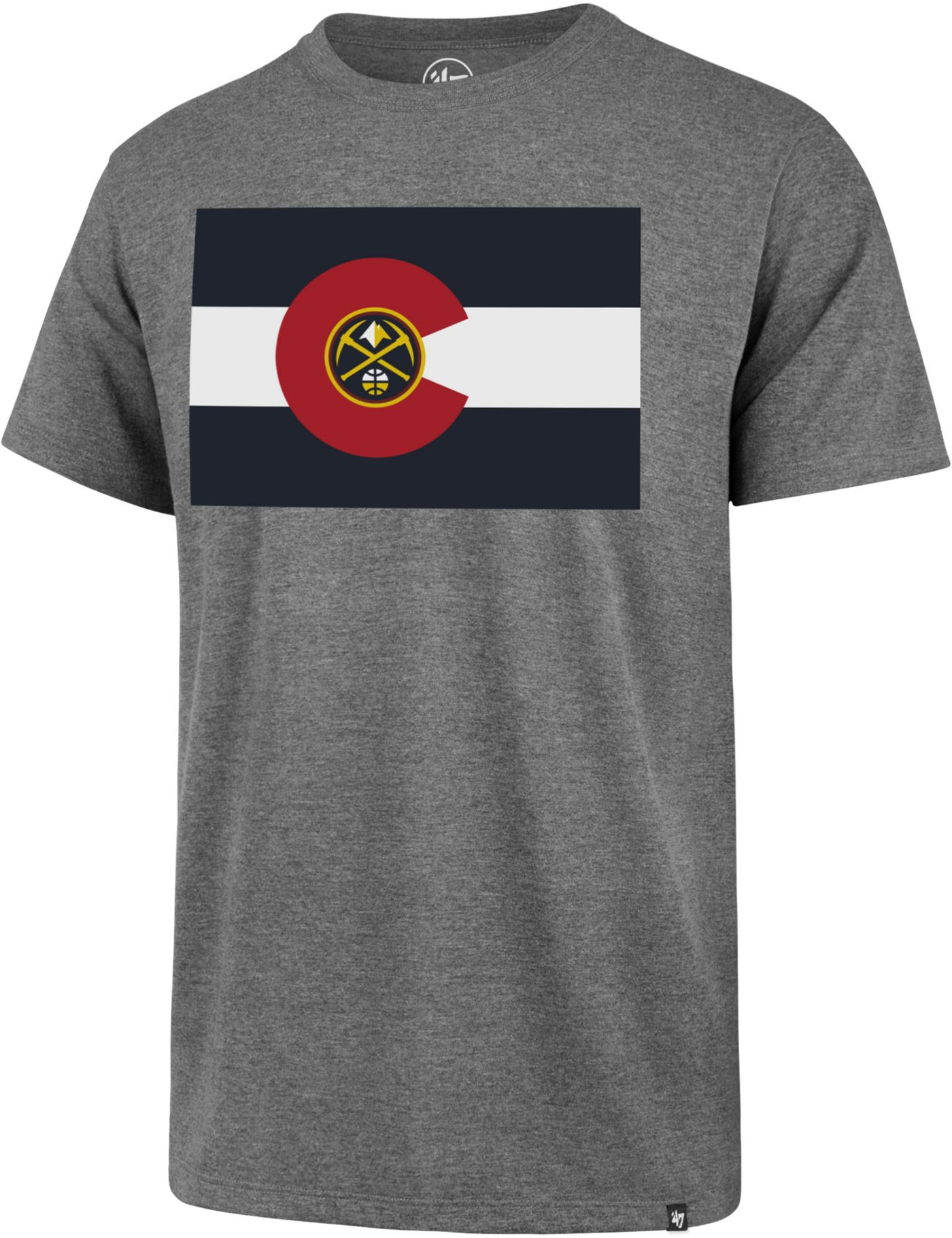 '47 Men's Denver Nuggets Flag Grey T-Shirt
