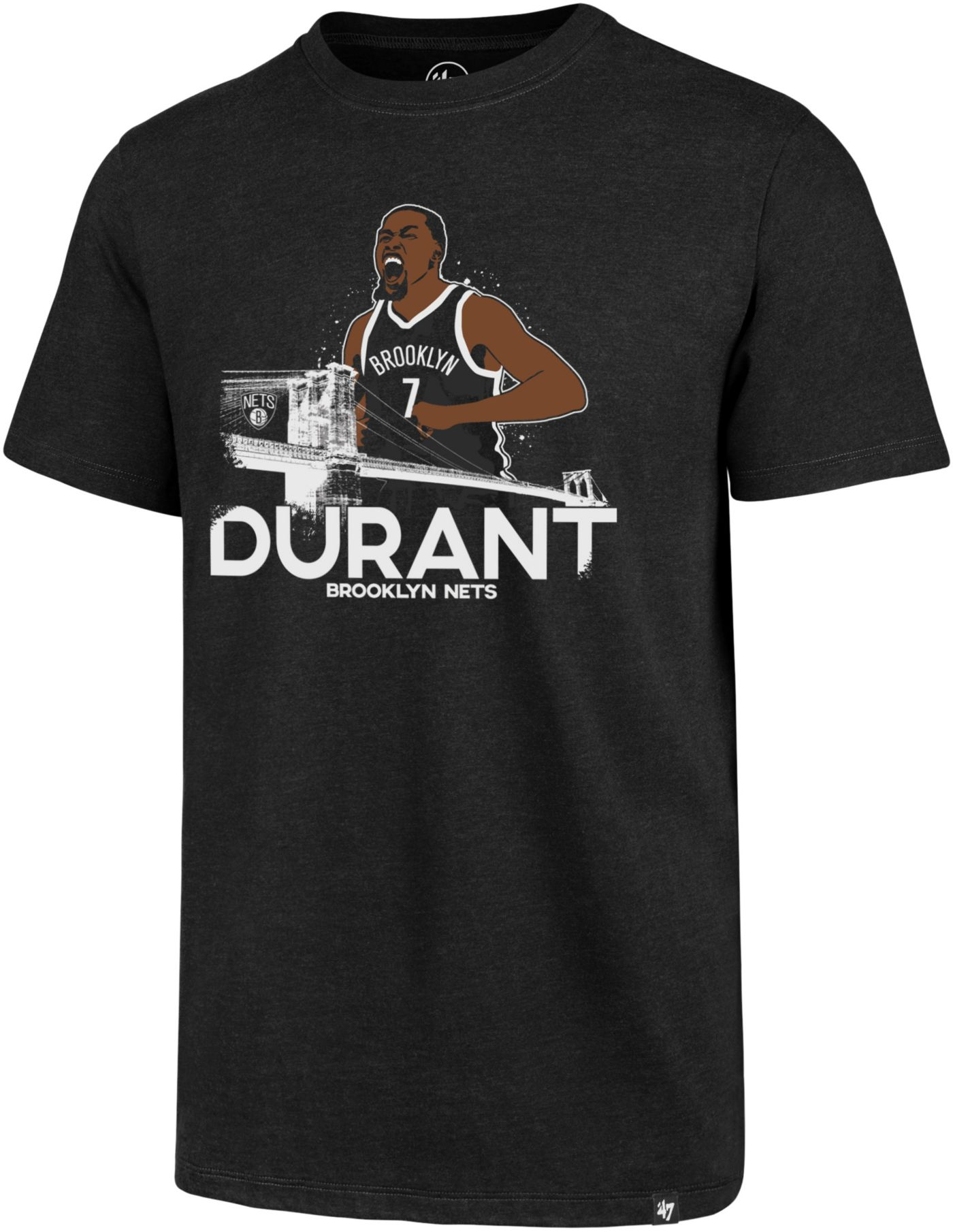 '47 Men's Brooklyn Nets Kevin Durant Black T-Shirt