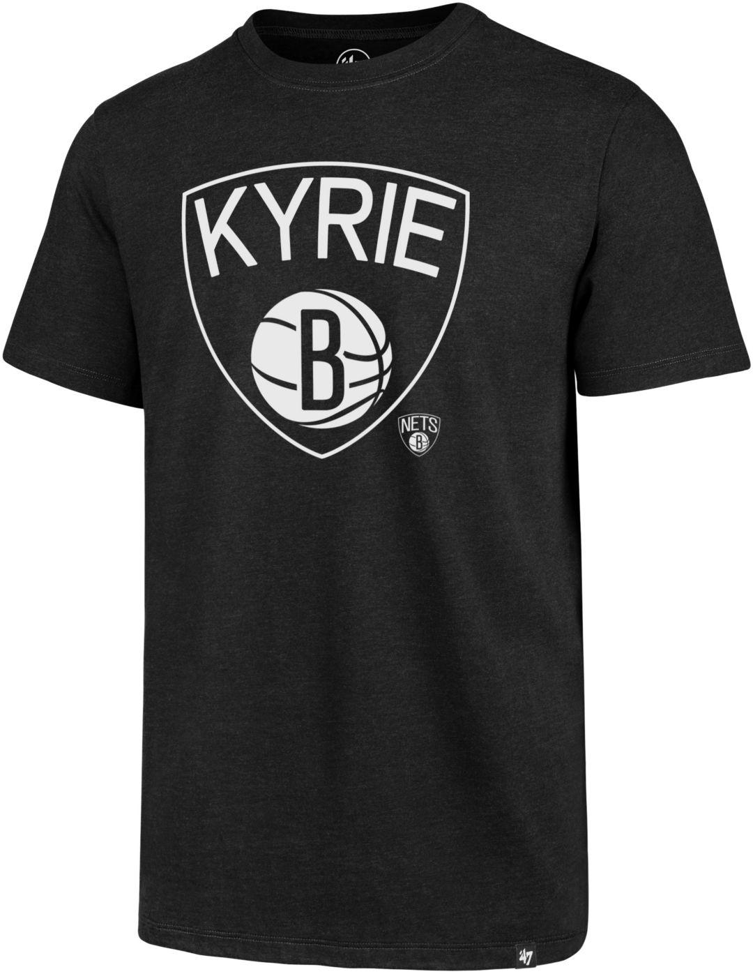 another chance 29b6e 04071 '47 Men's Brooklyn Nets Kyrie Irving Black T-Shirt