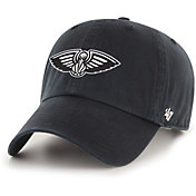 '47 Men's New Orleans Pelicans Black Cleanup Adjustable Hat