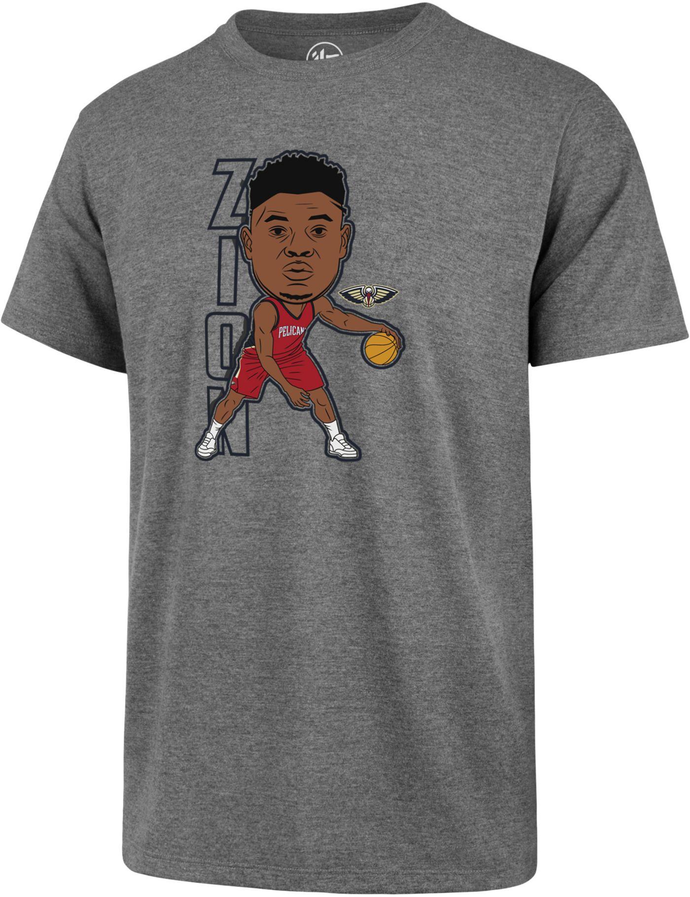 '47 Men's New Orleans Pelicans Zion Williamson Grey T-Shirt