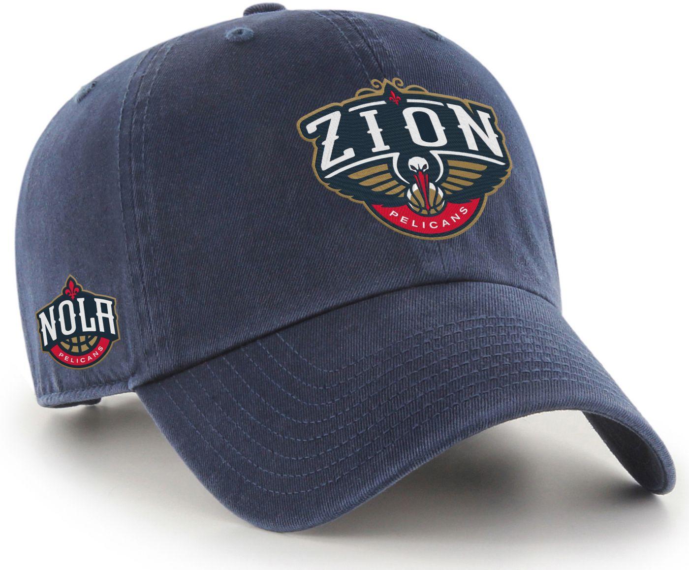 '47 Men's New Orleans Pelicans Zion Williamson Navy Clean Up Adjustable Hat