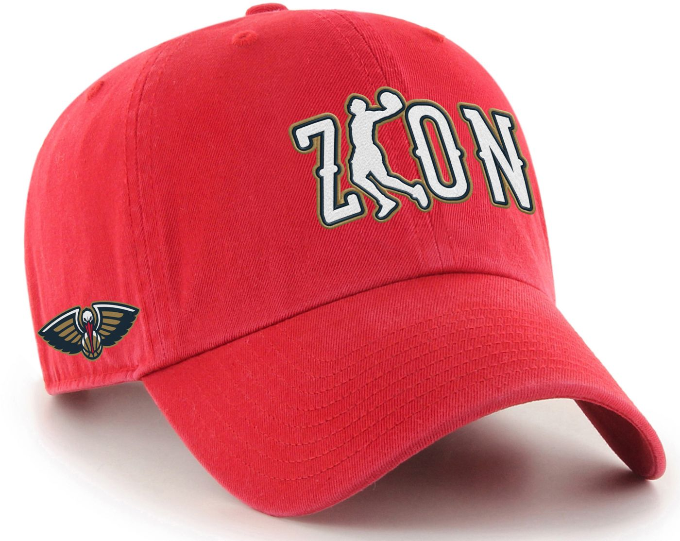 '47 Men's New Orleans Pelicans Zion Williamson Red Clean Up Adjustable Hat