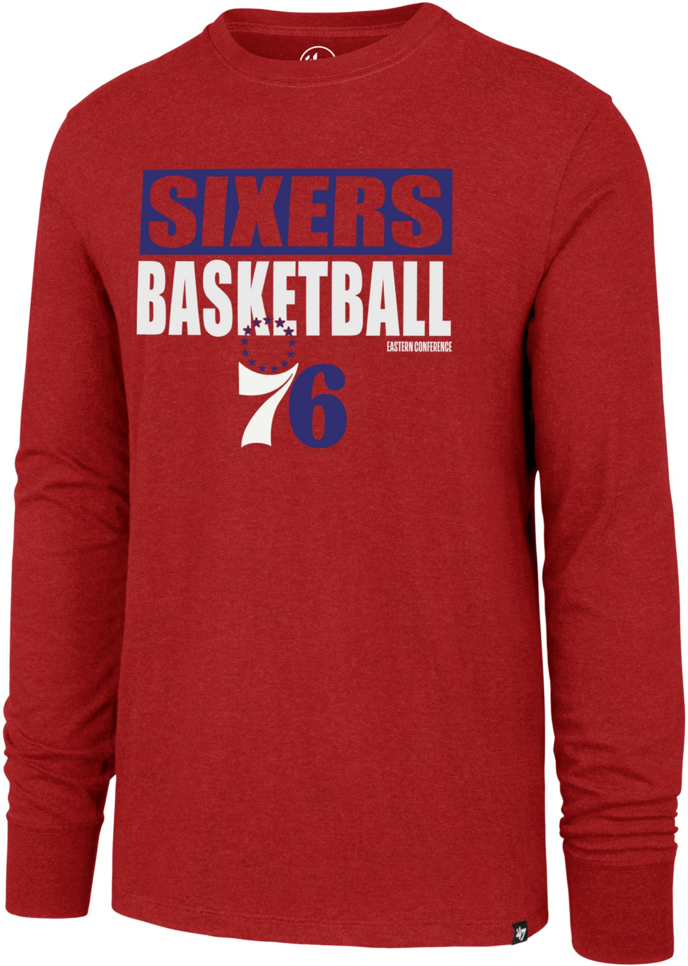 '47 Men's  Philadelphia 76ers Club Long Sleeve Shirt