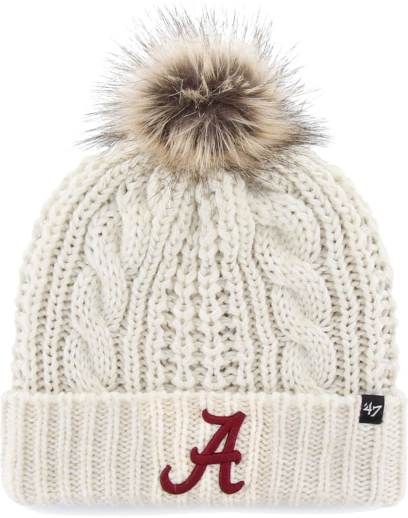 '47 Women's Alabama Crimson Tide Meeko Cuffed Knit White Hat