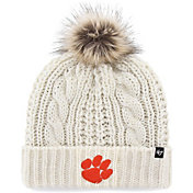 '47 Women's Clemson Tigers Meeko Cuffed Knit White Hat