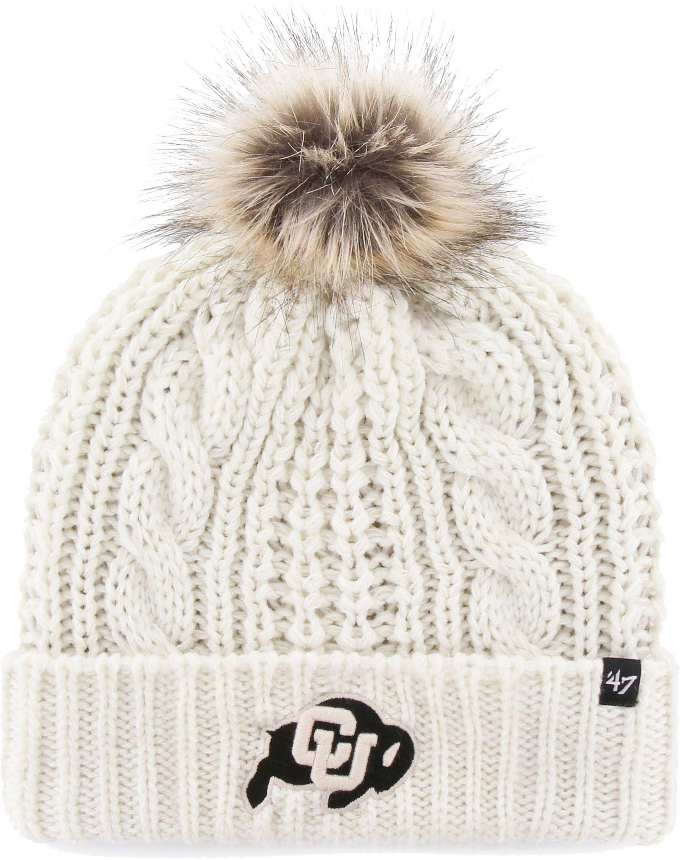 '47 Women's Colorado Buffaloes Meeko Cuffed Knit White Hat