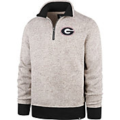 '47 Men's Georgia Bulldogs Grey Kodiak Quarter-Zip Sweatshirt
