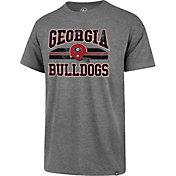 '47 Men's Georgia Bulldogs Grey Major Stripe Club T-Shirt