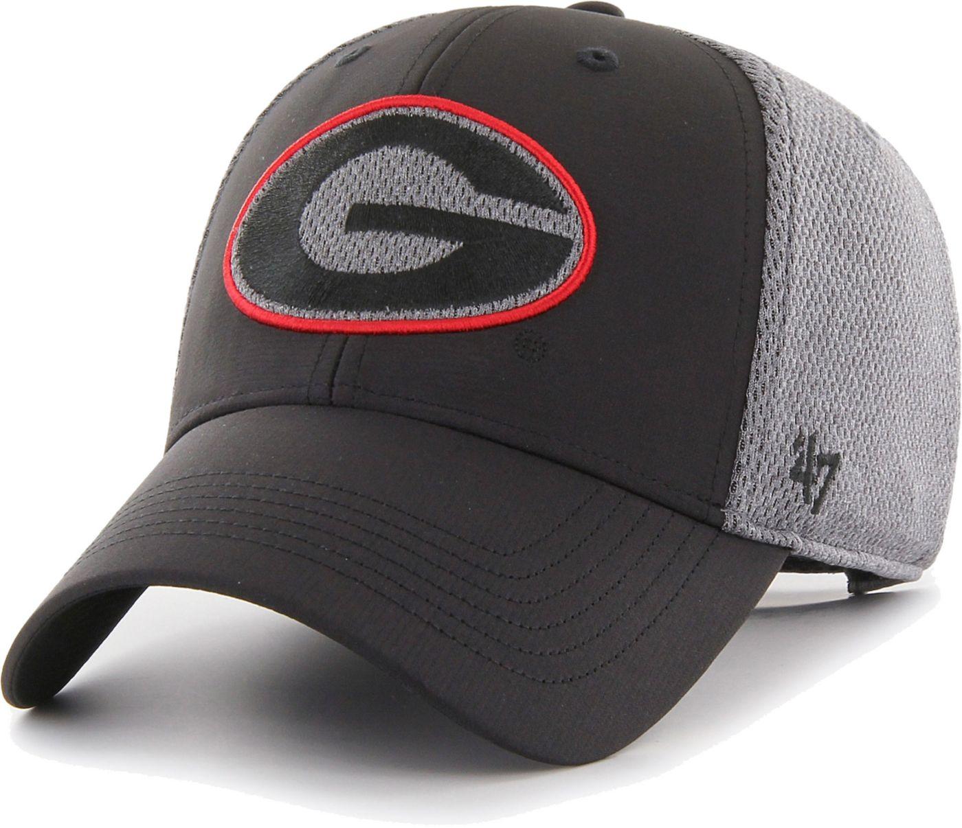 '47 Men's Georgia Bulldogs Black/Grey MVP Arlo Adjustable Hat