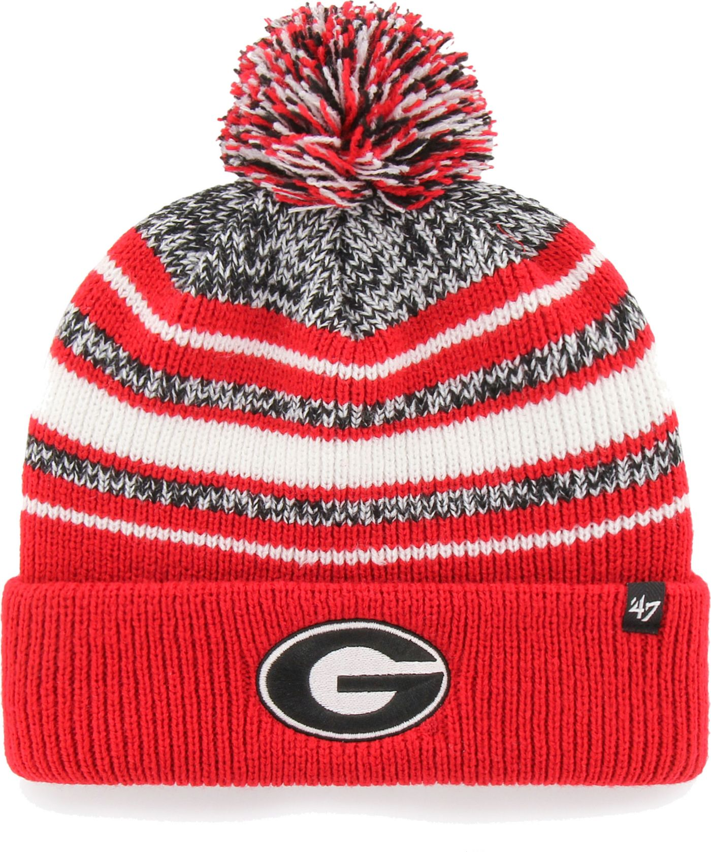 '47 Men's Georgia Bulldogs Red Bubbler Cuffed Knit Beanie