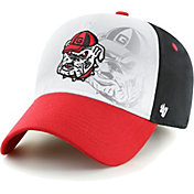 '47 Men's Georgia Bulldogs MVP Offset Adjustable White Hat
