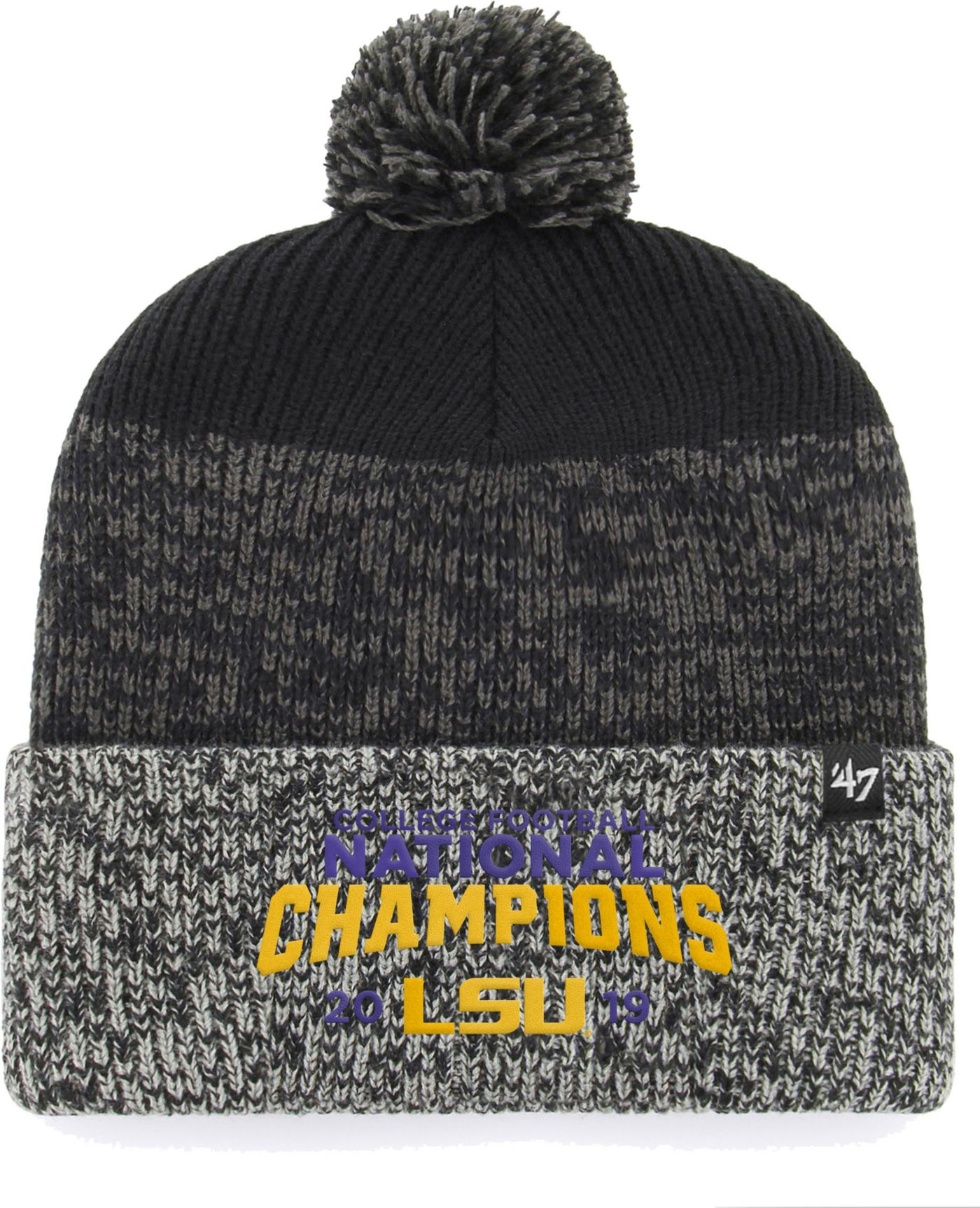 '47 Men's 2019 National Champions LSU Tigers Cuffed Knit Beanie