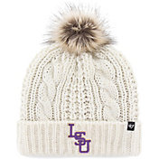 '47 Women's LSU Tigers Meeko Cuffed Knit White Hat