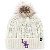 '47 Women's LSU Tigers Meeko Cuffed Knit White Hat
