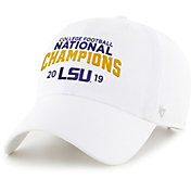 '47 Men's 2019 National Champions LSU Tigers Adjustable White Hat