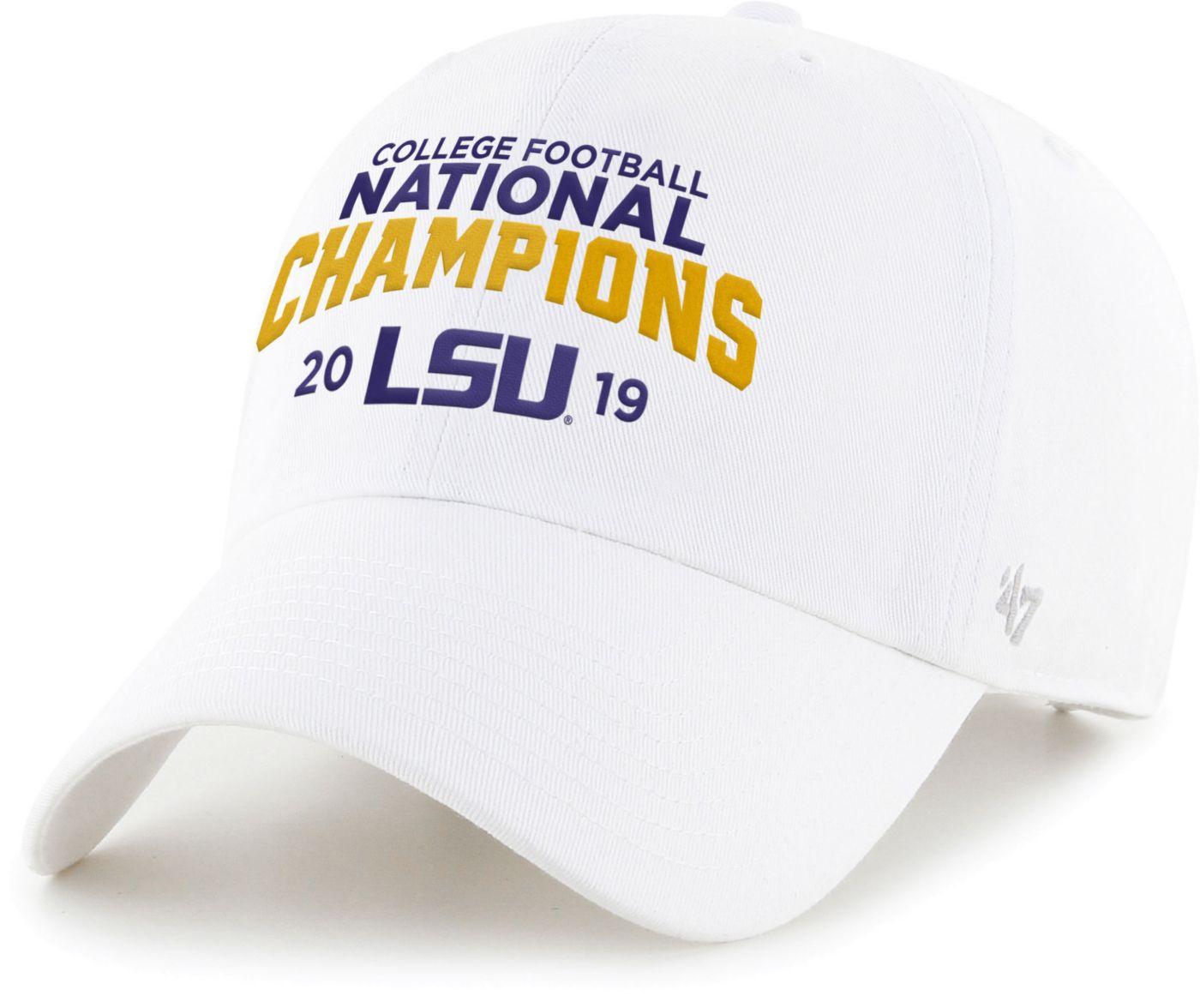 '47 Men's 2019 National Champions LSU Tigers Adjustable White Hat