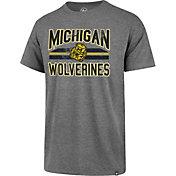 '47 Men's Michigan Wolverines Grey Major Stripe Club T-Shirt