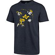 '47 Men's Michigan Wolverines Blue Imprint Club T-Shirt