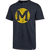 '47 Men's Michigan Wolverines Blue Throwback Club T-Shirt