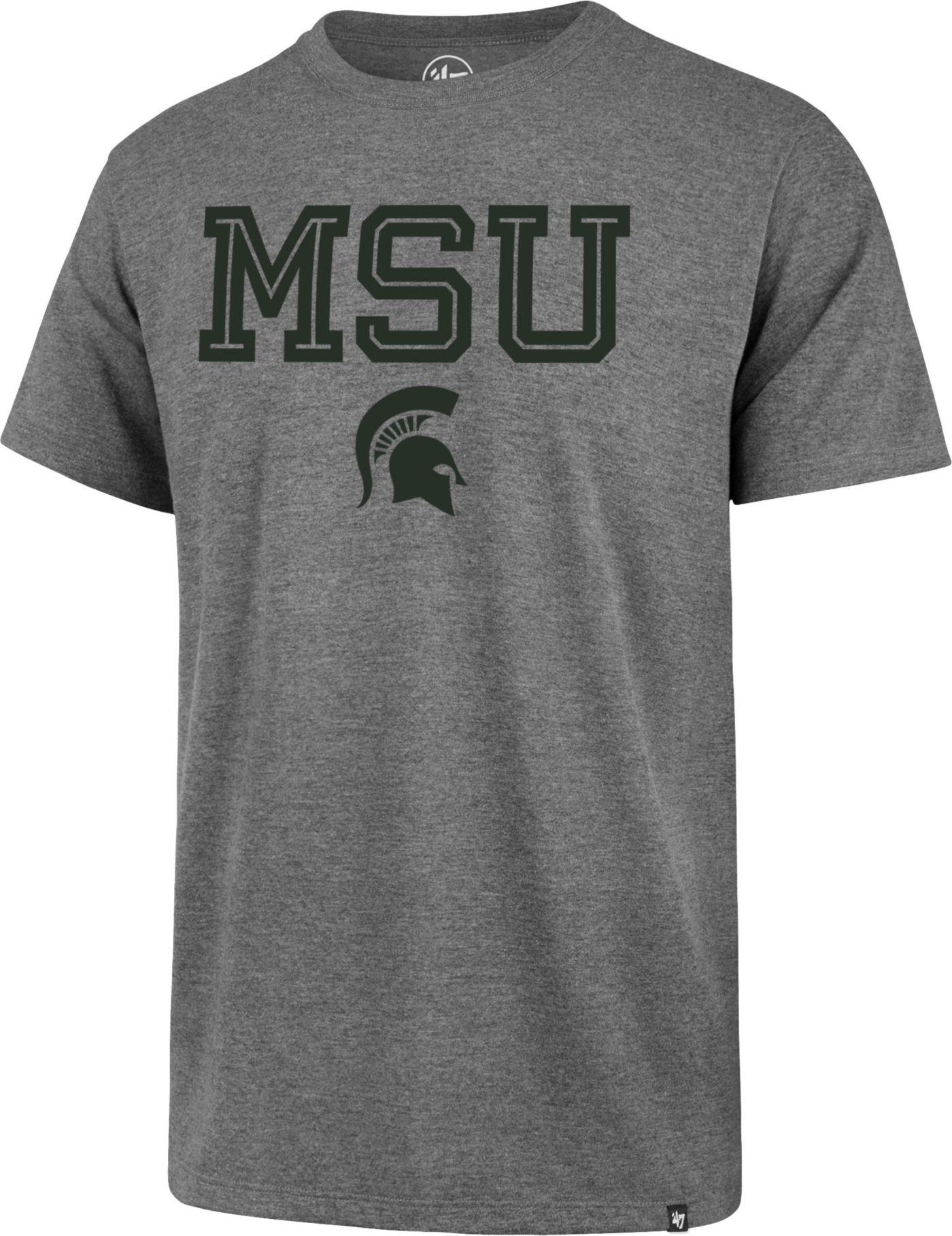 '47 Men's Michigan State Spartans Grey Inline Club T-Shirt