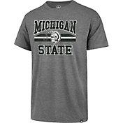 '47 Men's Michigan State Spartans Grey Major Stripe Club T-Shirt