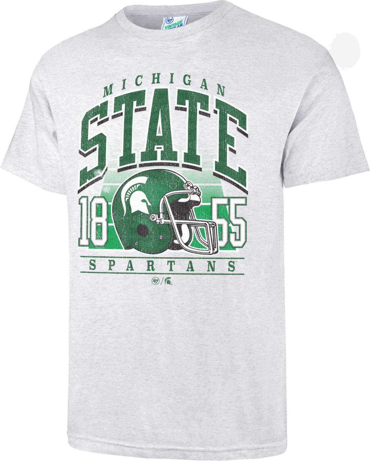 '47 Men's Michigan State Spartans Grey Touchdown T-Shirt