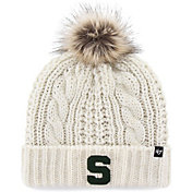 '47 Women's Michigan State Spartans Meeko Cuffed Knit White Hat