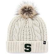 '47 Women's Michigan State Spartans Meeko Cuffed Knit White Hat