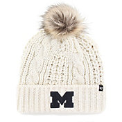 '47 Women's Michigan Wolverines Meeko Cuffed Knit White Hat