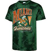 '47 Men's Miami Hurricanes Green Touchdown T-Shirt