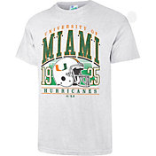 '47 Men's Miami Hurricanes Grey Touchdown T-Shirt