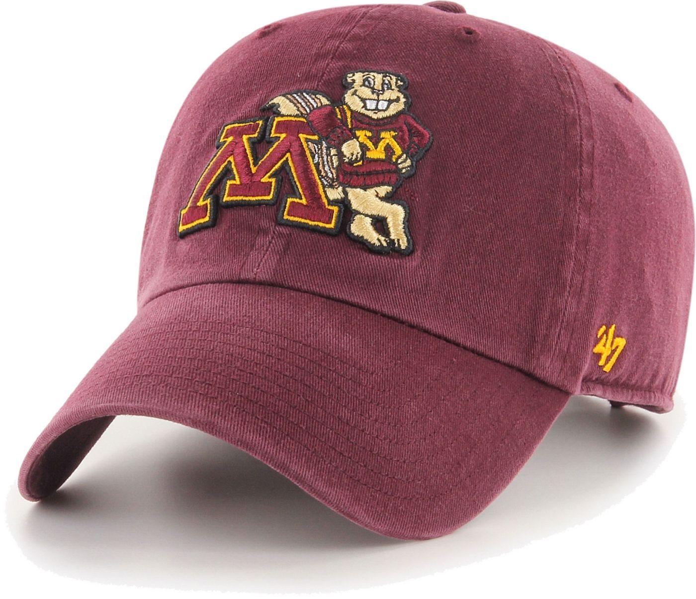 '47 Men's Minnesota Golden Gophers Maroon Clean Up Adjustable Hat