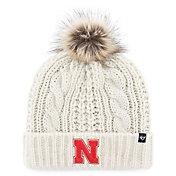 '47 Women's Nebraska Cornhuskers Meeko Cuffed Knit White Hat