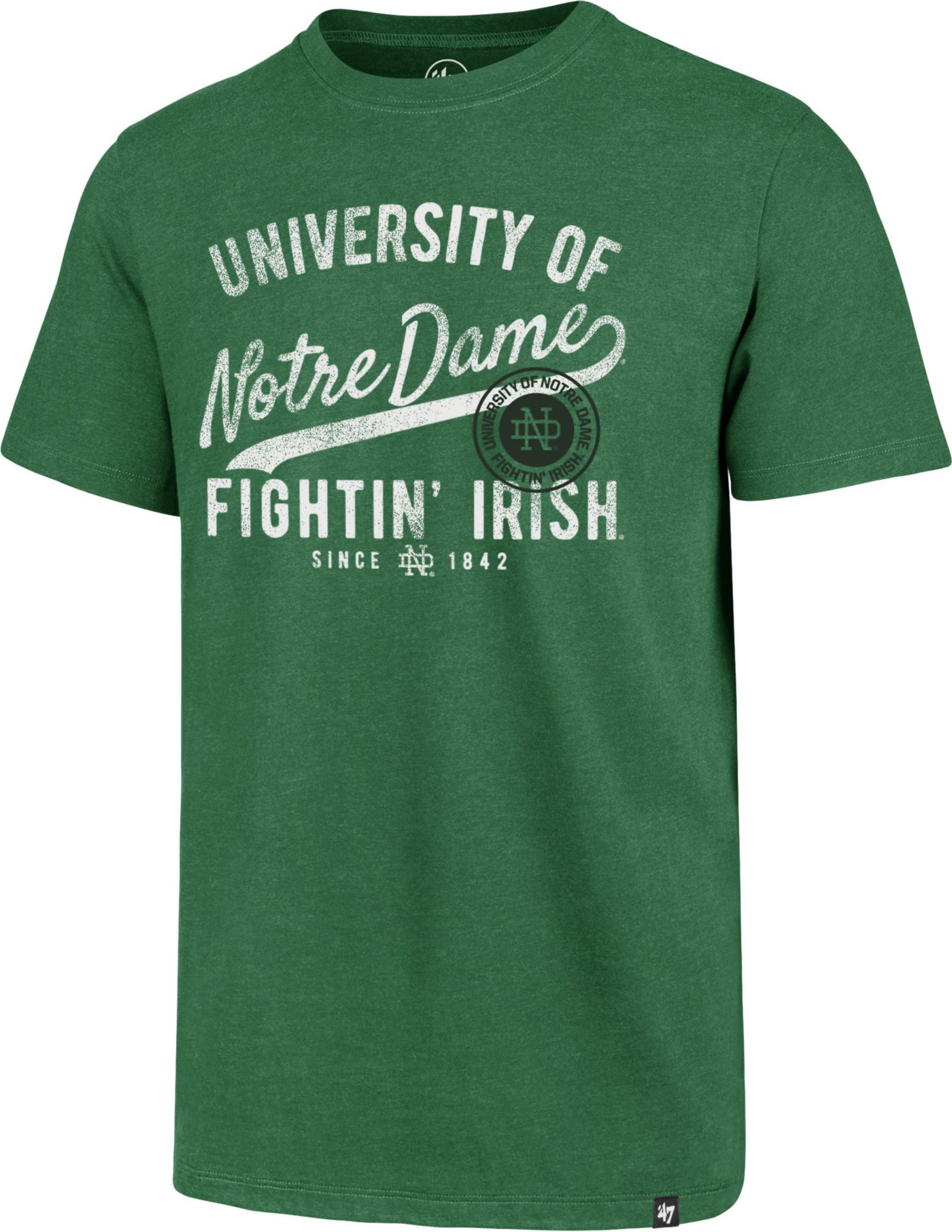 '47 Men's Notre Dame Fighting Irish Green Grandstand Club T-Shirt