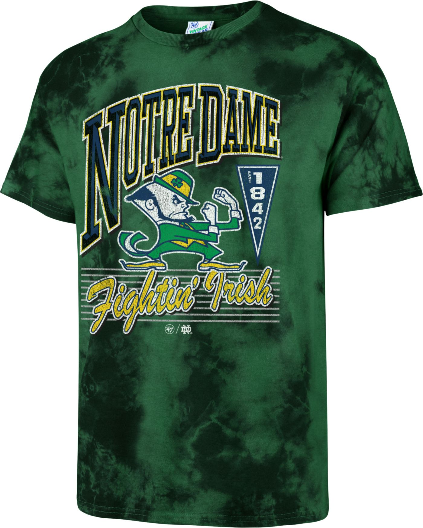 '47 Men's Notre Dame Fighting Irish Green Touchdown T-Shirt