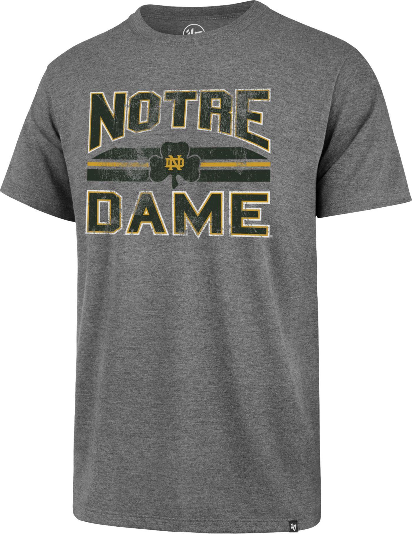 '47 Men's Notre Dame Fighting Irish Grey Major Stripe Club T-Shirt