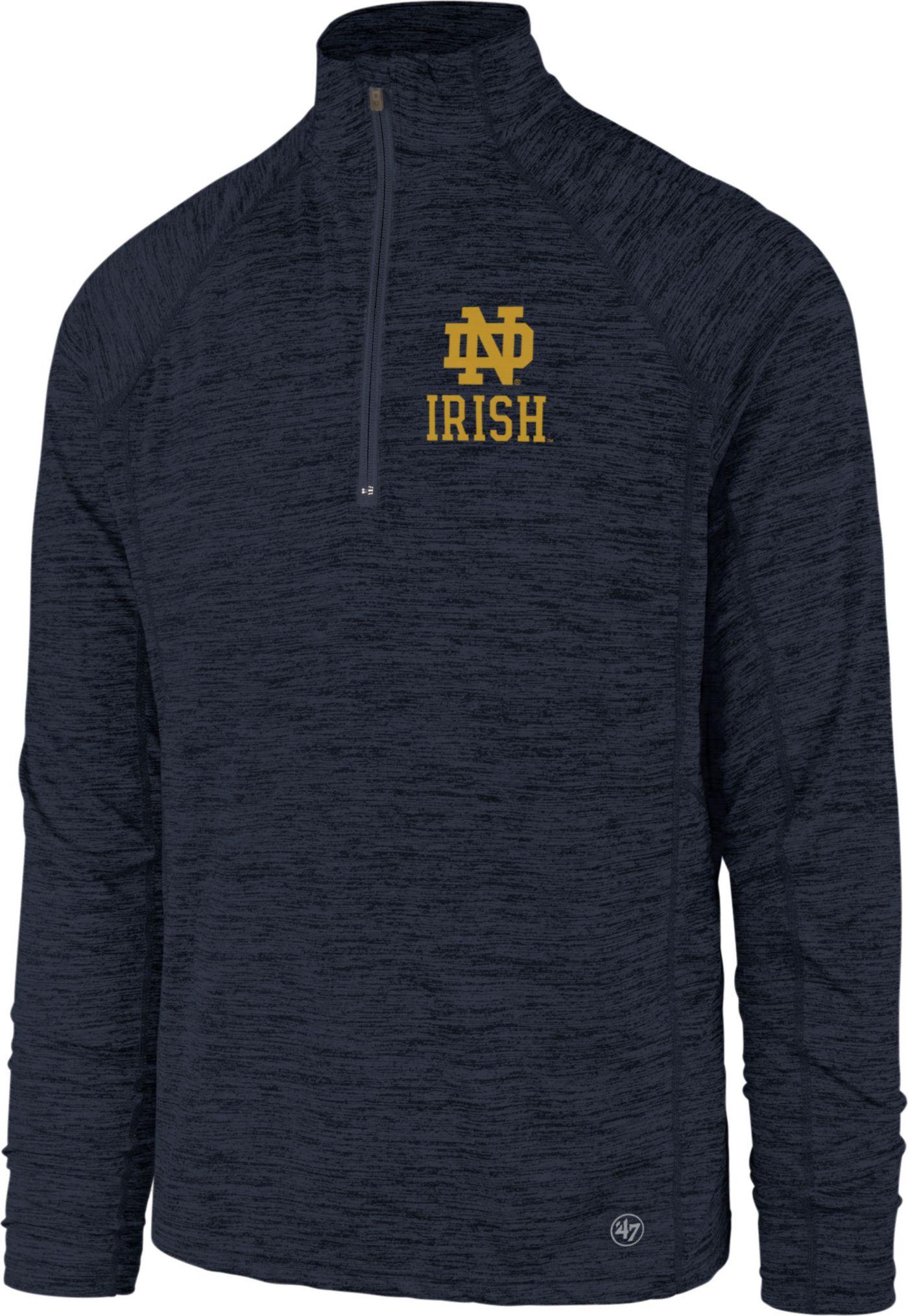 '47 Men's Notre Dame Fighting Irish Navy Impact Quarter-Zip Shirt