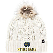 '47 Women's Notre Dame Fighting Irish Meeko Cuffed Knit White Hat