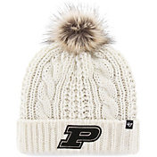 '47 Women's Purdue Boilermakers Meeko Cuffed Knit White Hat