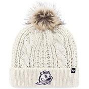 '47 Women's Oregon Ducks Meeko Cuffed Knit White Hat