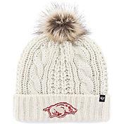 '47 Women's Arkansas Razorbacks Meeko Cuffed Knit White Hat
