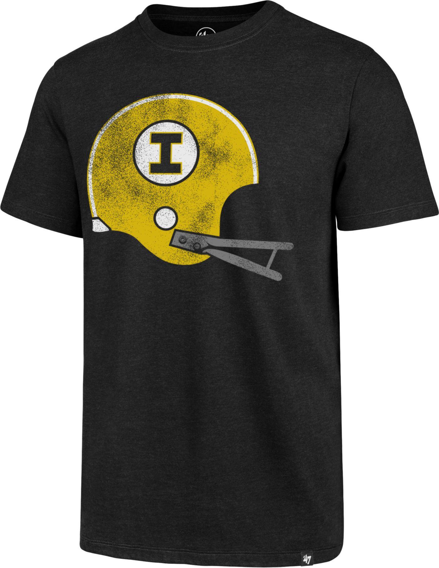 '47 Men's Iowa Hawkeyes Imprint Club Black T-Shirt