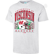 '47 Men's Wisconsin Badgers Grey Touchdown T-Shirt