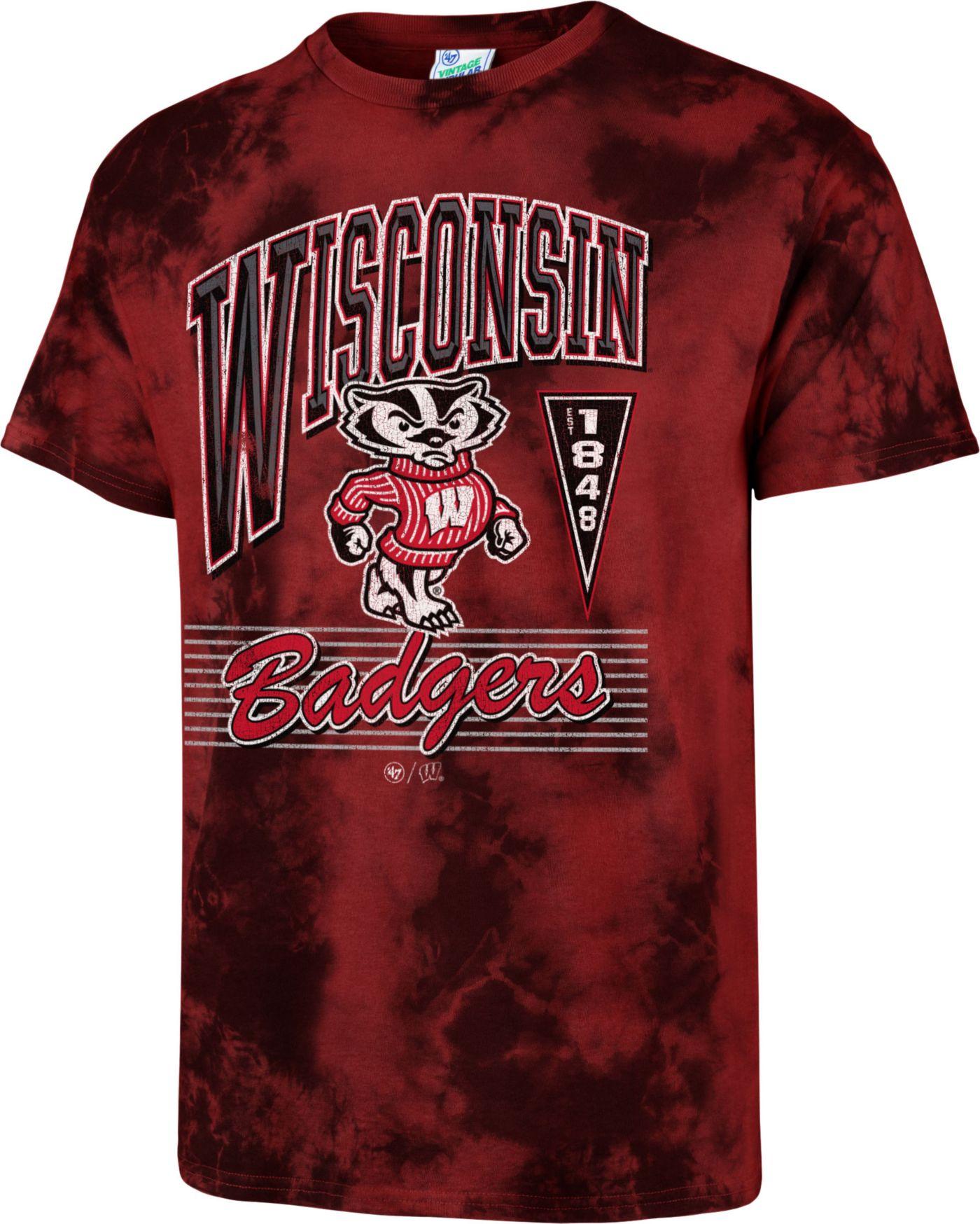 '47 Men's Wisconsin Badgers Red Touchdown T-Shirt