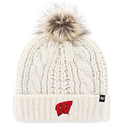 '47 Women's Wisconsin Badgers Meeko Cuffed Knit White Hat