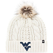 '47 Women's West Virginia Mountaineers Meeko Cuffed Knit White Hat