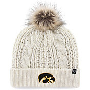 '47 Women's Iowa Hawkeyes Meeko Cuffed Knit White Hat