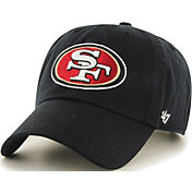 '47 Men's San Francisco 49ers Clean Up Black Adjustable Hat